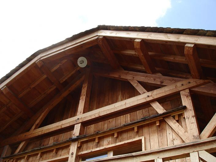 photo Maison charpente bois traditionnelle, Lozère, Languedoc-Roussillon