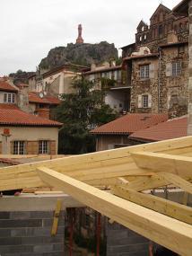 Rénovation d'une maison en vielle ville du Puy en Velay, Haute Loire, Auvergne