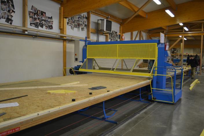 fabrication d'une charpente industrielle bois